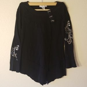 RXB embroidered neck clasp shirt